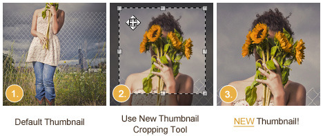 NEW Thumb Cropping Tool!