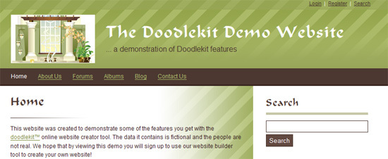 New Doodlekit Website Builder Layout