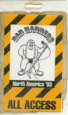 Bad Manners Tour Pass