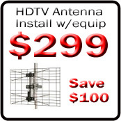 picture of an HDTV antenna installation