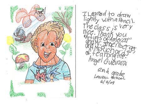 angel's thank you card 2009