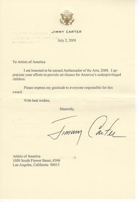 From President Jimmy Carter: