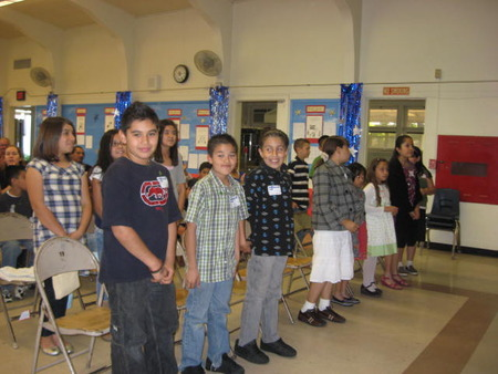 Cartoon Students at Laurel Elementary School, Whittier, CA 2008-8