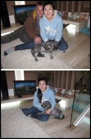 Fei Fei with new family