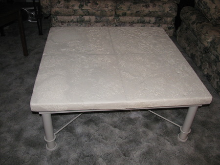 Greed Coffee Table, a very beautiful and heavy piece that will enhance any living room