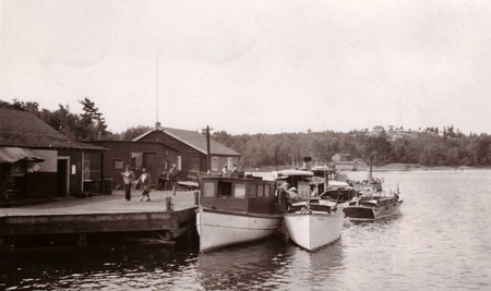 Pointe au Baril Station Dock 1930's