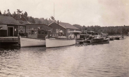 Pointe au Baril Station dock - 1930's