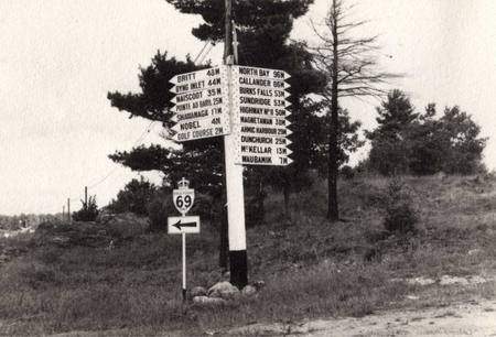 Parry Sound street sign 1920