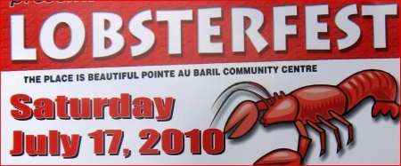 Pointe-au-Baril Lobsterfest July 17- 2010 Banner