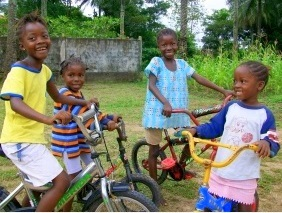 Brittany Richardson taught girls and women how to ride and maintain their Brittany Richardson taught girls and women how to ride and maintain their new bikes, while working with Village Bicycle Project in Sierra Leone, Africa