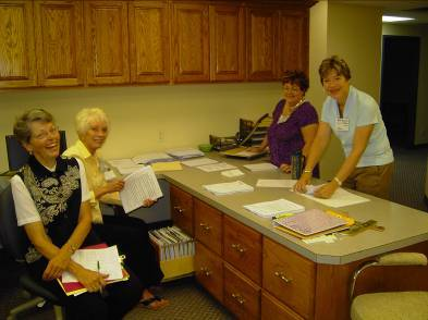 Clinic office volunteers