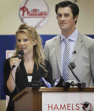 Heidi and Cole Hamels