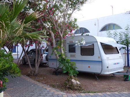 Camping Caravan campsite beach natural accommodation Hersonissos Crete Greece