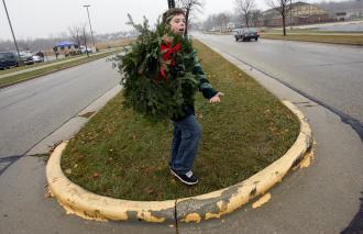 Tony and the wreaths.jpg