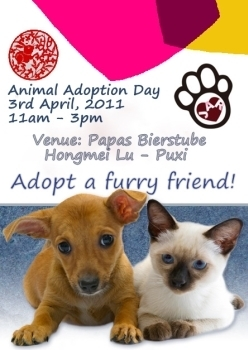 Animal Adoption Day in April!