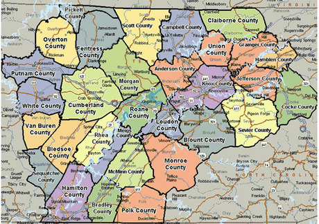 East Tennessee Map Uptowncritters - East tennessee map