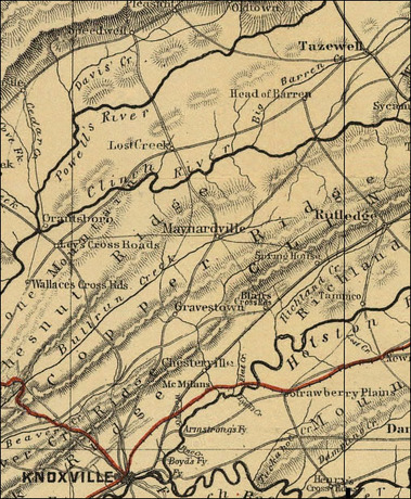 1885 Union Co Map
