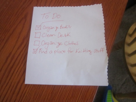 Sample to-do list