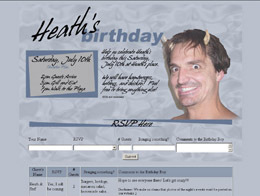 Heath's Birthday